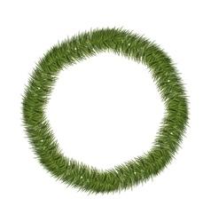 silhouette circular of Christmas pine wreath vector image