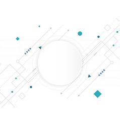 abstract white circle digital technology vector image
