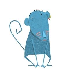Comical Funny Girl Monkey Cartoon Character vector image vector image