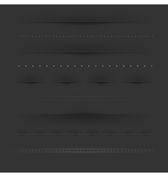 Set Of Dividers On Dark vector image vector image