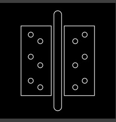 Accessories for door the white path icon vector