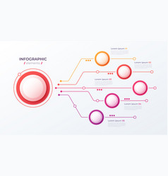 5 options infographic design structure vector