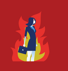 Angry woman business person and emotion concept vector