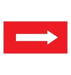 Arrow sing white icon in red rectangle vector image