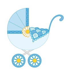 baboy stroller vector image