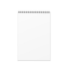 blank notebook template on white background vector image