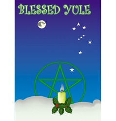 blessed yule vector image
