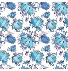 Blue Lotus Pattern vector image