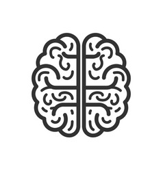 Brain icon flat isolated on white background vector