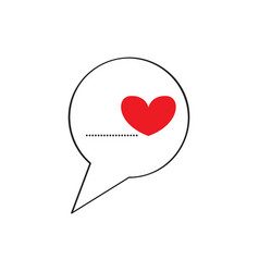 bubble chat with a heart vector image
