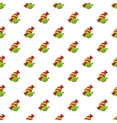 Candy pattern cartoon style vector