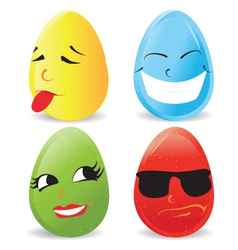 Cartoon eggs vector image