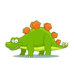 Cartoon stegosaurus cute little baby dinosaur vector