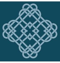 celtic knot motif vector image