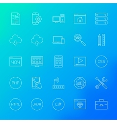 Coding Line Icons vector