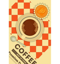 Coffee and Orange Cupcake vector image