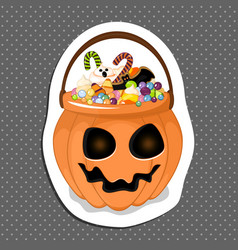 Collection of halloween buckets vector