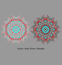 colorful hand drawn mandala vector image