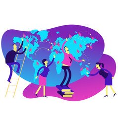 Corporation a network branches or outlets vector