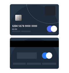 credit card badge bad credit card badge flat vector image