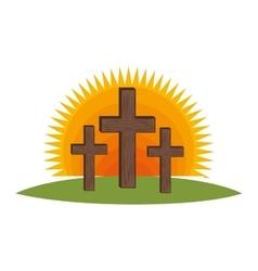 cross religious symbol icon vector image