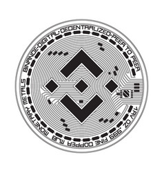 crypto currency binance black and white symbol vector image