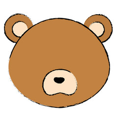 Cute and tender bear head character vector