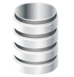 Database icon vector image