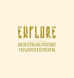 decorative narrow sans serif font vector image