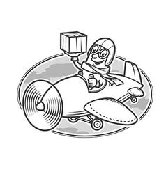 delivery emblem vector image