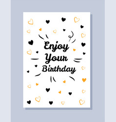 enjoy your birthday postcard vector image