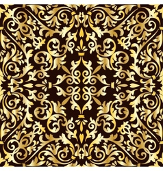 Golden baroque pattern vector image