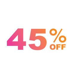 gradient pink to orange forty five percent vector image