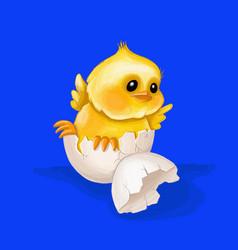 happy easterchicken hatched vector image