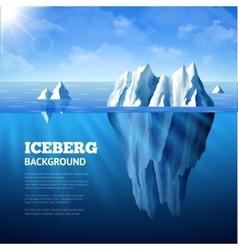 Iceberg Background vector image