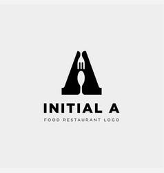 Initial a food equipment simple logo template vector