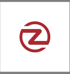 initials z circle logo template letter z circle vector image