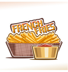 Logo for french fries vector