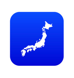 map japan icon digital blue vector image