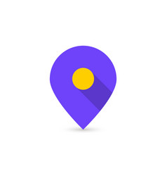 Map location icon like geotag logo vector