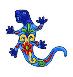 Mexican ornamental lizard vector