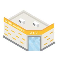 minimarket building icon isometric style vector image