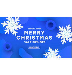 modern merry christmas and happy new year with vector image