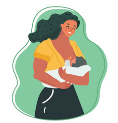 Motherhood and lactation concept vector