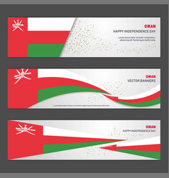 oman independence day abstract background design vector image