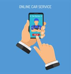 online car services concept vector image