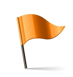 orange flag vector image