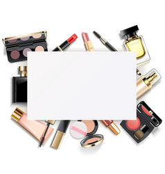 Paper card with makeup vector