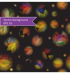 pattern of circles and dots vector image