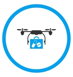 Pharmacy Case Nanocopter Delivery Icon vector